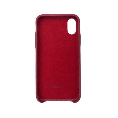 MAAD LVR Red IPhone XS MAX Case - MAAD Collective - Saffiano IPhone Personalized Case