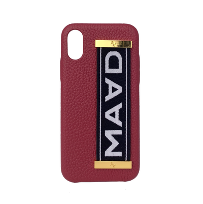 MAAD LVR Red IPhone X/XS Case - MAAD Collective - Saffiano IPhone Personalized Case