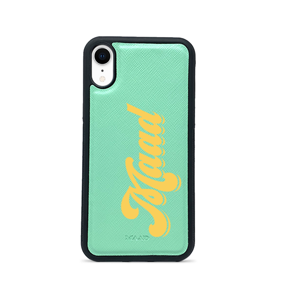 Saffiano - Mint IPhone XR Case