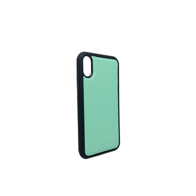 Mint IPhone XR Case - MAAD Collective - Saffiano IPhone Personalized Case
