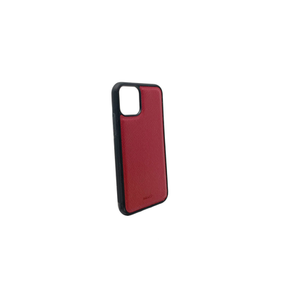 Red IPhone 11 Pro Case - MAAD Collective - Saffiano IPhone Personalized Case