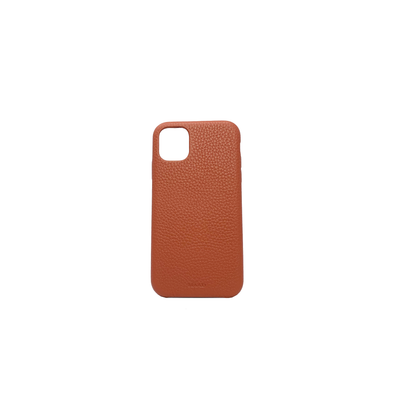 Pebble - Terracotta IPhone 11 Case - MAAD Collective - Saffiano IPhone Personalized Case
