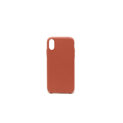 Pebble - Terracotta IPhone XR Case - MAAD Collective - Saffiano IPhone Personalized Case