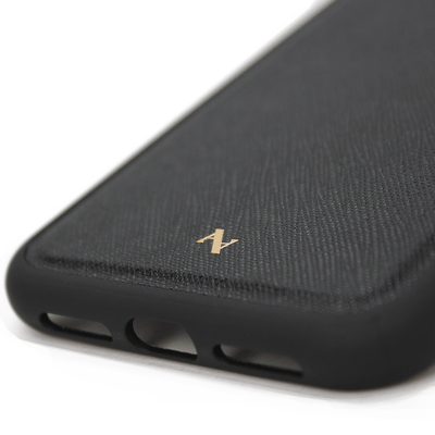 MAAD Classic - Black IPhone 12 Leather Case