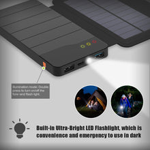Load image into Gallery viewer, Solar Panel Power Bank 10000mAh