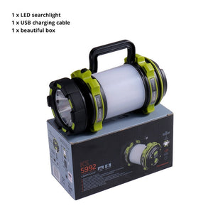 RECHARGEABLE FLASHLIGHT FOR CAMPING