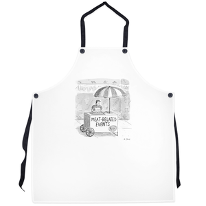 "Grilling Apron - ""Meat-related Events"""