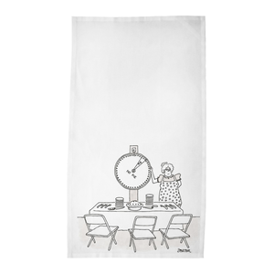 "Jack Ziegler Tea Towels - ""Pie - No Pie"""