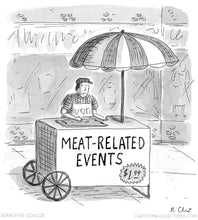 "Load image into Gallery viewer, Grilling Apron - ""Meat-related Events"""