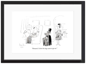 "Arnie Levin Limited Edition, Signed Print ""Howard, I think the dog wants to go out."" $350-$425-2"