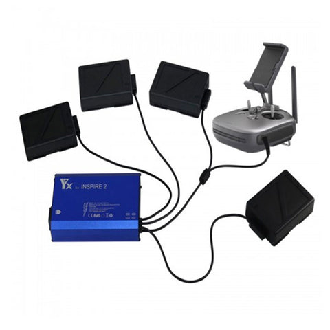 5-in-1 Parallel Charger for DJI Inspire 2 and Matrice 200/210 Batteries