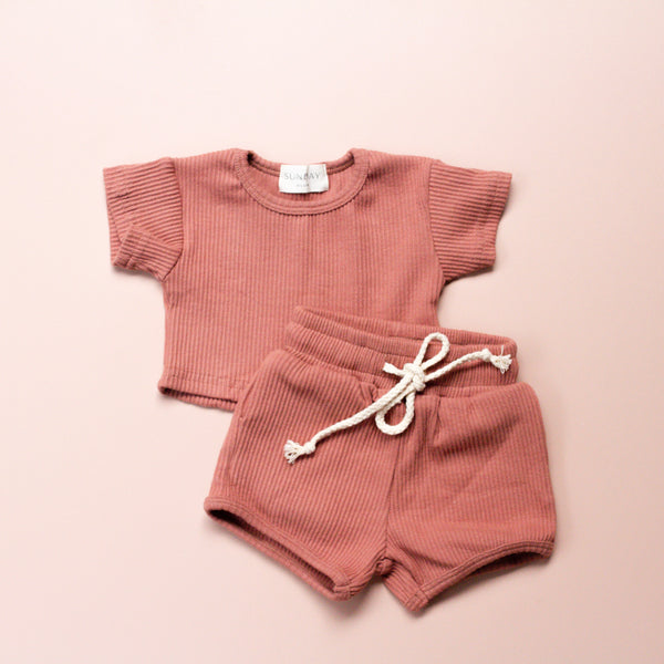 COCO sunday lounge wear set | dusty rose