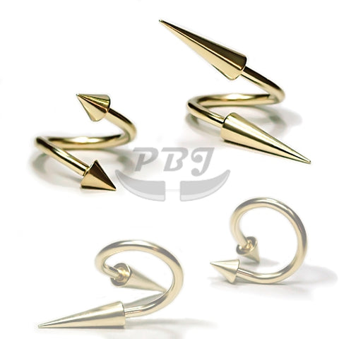 16G, Cone Twister-Gold Steel