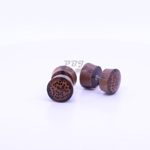 Coco-Brown Fake Plug-Wood