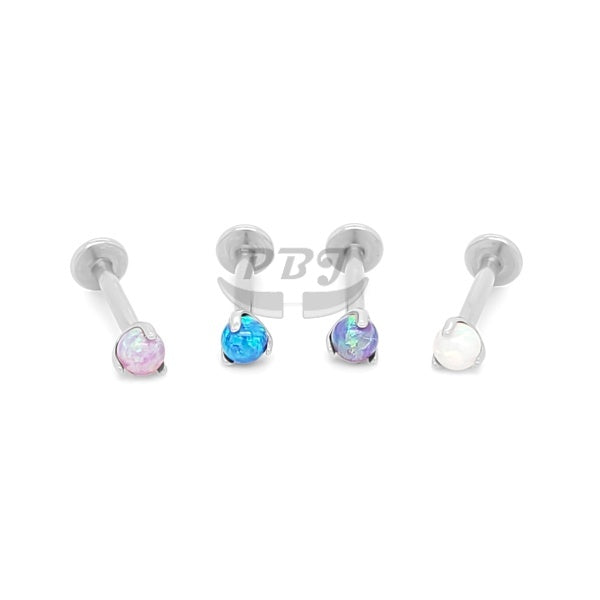 Labret Claw Set Opal Ball 16G - 316L S. Steel