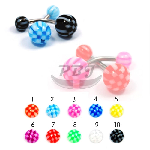 UV Belly-7 Checker 14G, 4pcs/pack