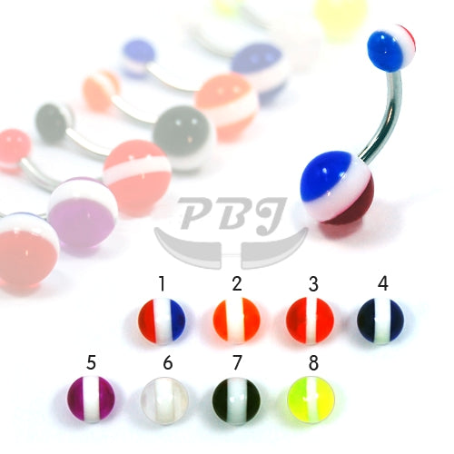 UV Belly-14 Candy 14G, 4pcs/pack