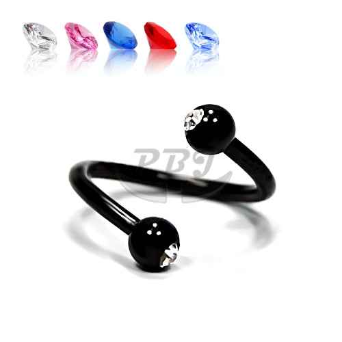 16G Double Jeweled Twister-Black Steel