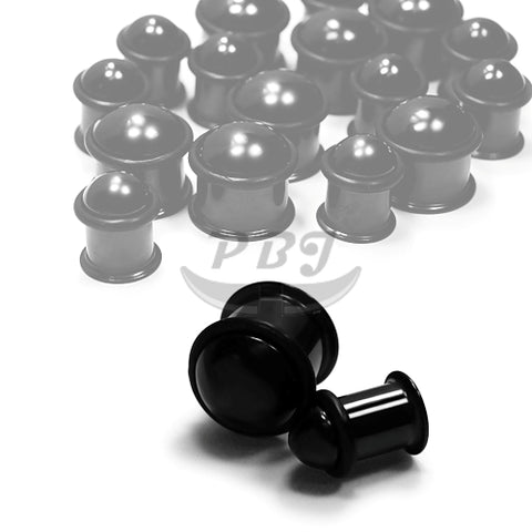 Dome Hollow Flared Plug-Black Steel