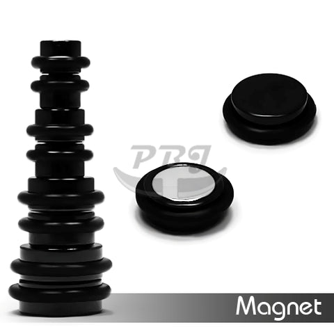 Magnetic Fake Plug-Black Steel