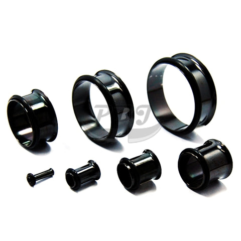 "Single Flared Plug-1 10G-3/4""-Black Steel"