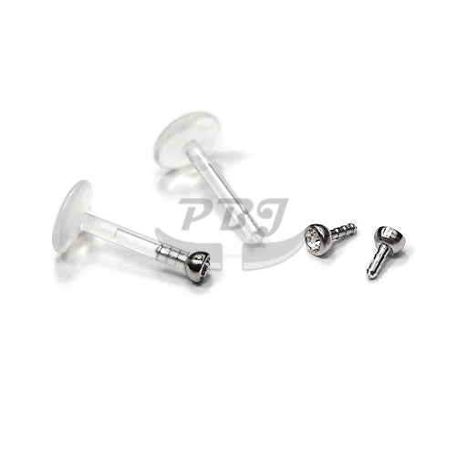 Labret-45 PTFE Push Gem Top, 4pcs/pack