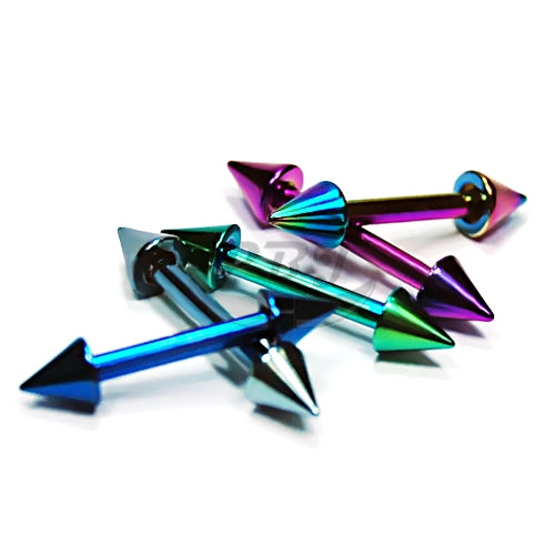 16G Cone Barbell-Color Steel