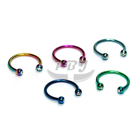 16G Jeweled Horseshoe(CBB)-Color Steel