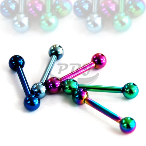 14G Barbell-Color Steel