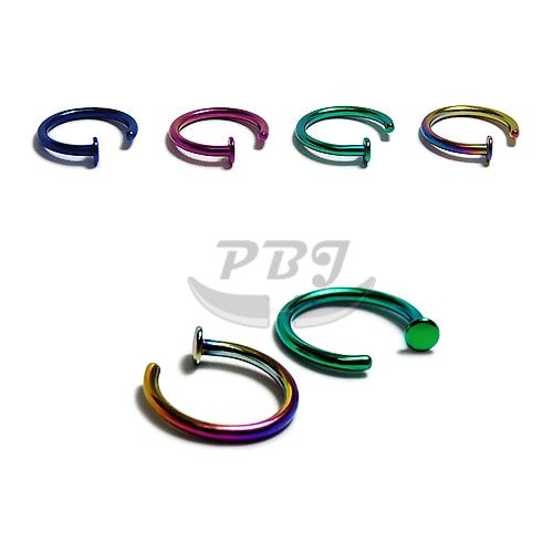 20G Flexible Hoop w/Stopper 6pcs/pack Price-Color Steel