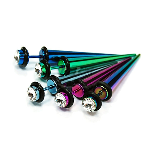 16G Jeweled Fake Expander-Color Steel