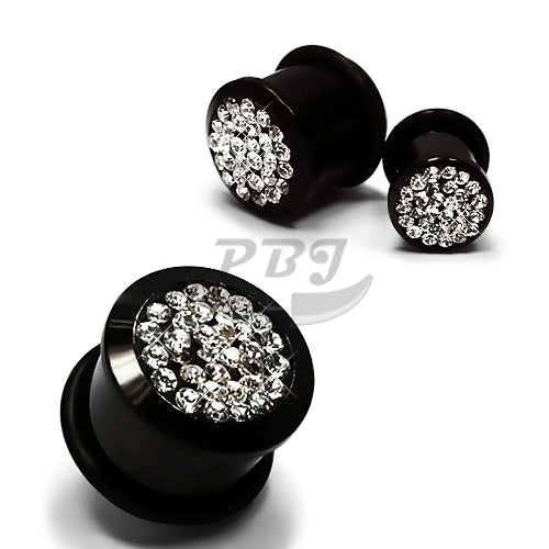 Bling-Bling Stone Plug-Black Steel