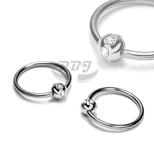 14G Multi Jeweled BCR, 4pcs/pack Price-316L S. Steel
