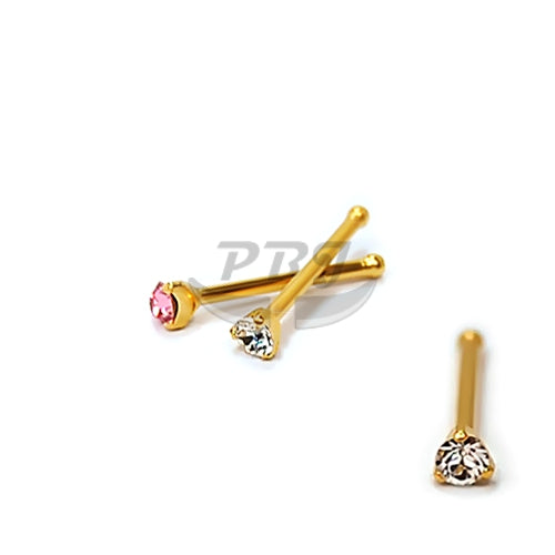 22G Diamond Cut Prong Set 6pcs/pack Price-Gold Steel