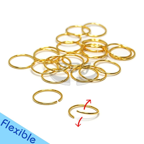 22G Gold/Rose Gold Flexible Hoop 6pcs/pack Price-Gold Steel