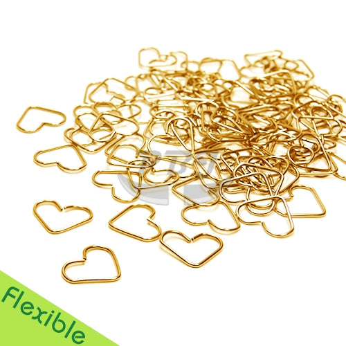 18G Heart Flexible Hoop-Gold Steel