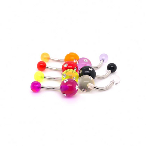 UV Belly-34 Multi 5Gem 14G, 4pcs/pack
