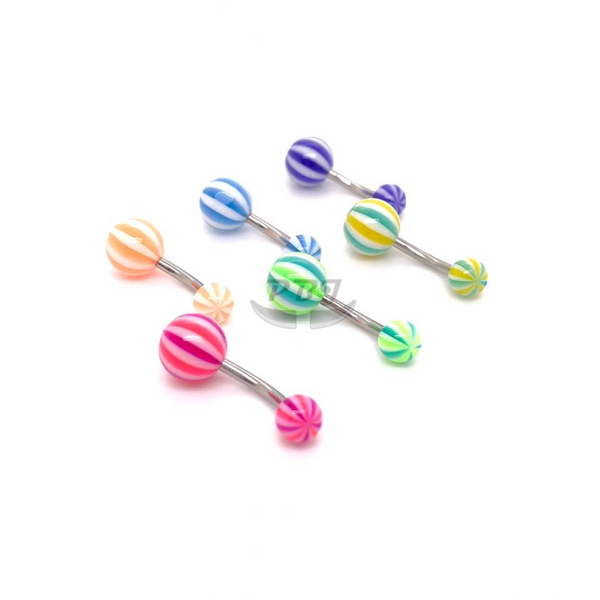 UV Belly-11 3Tone Beach 14G, 4pcs/pack