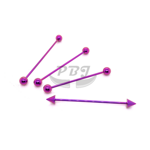 16G Industrial Barbell Purple-Color Steel