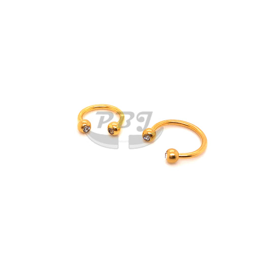 16G Double Jeweled CBB-Gold Steel