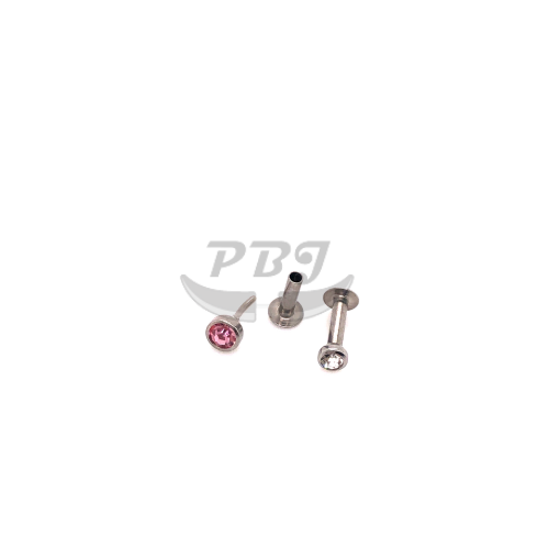 18g Micro Push Labret-1, 4pcs/pack Price-316L S. Steel