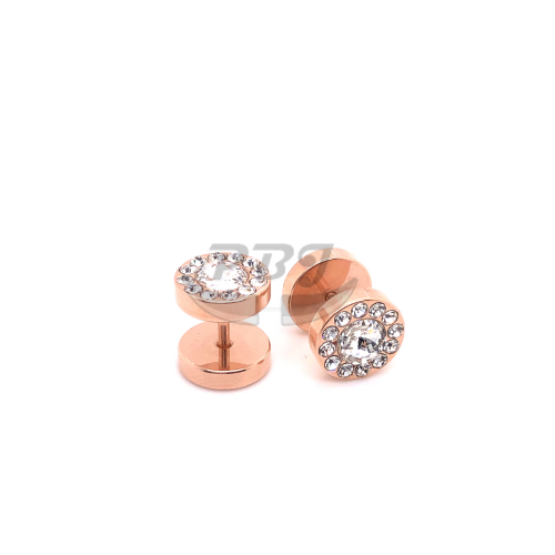16G Multi 00G Rose Gold Fake Plug-Gold Steel