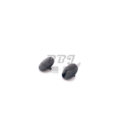 Black Shinny Convex Dermal Anchor Top-316L S. Steel