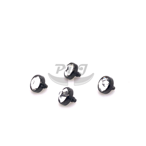 Black Gem Dermal Anchor Top-316L S. Steel