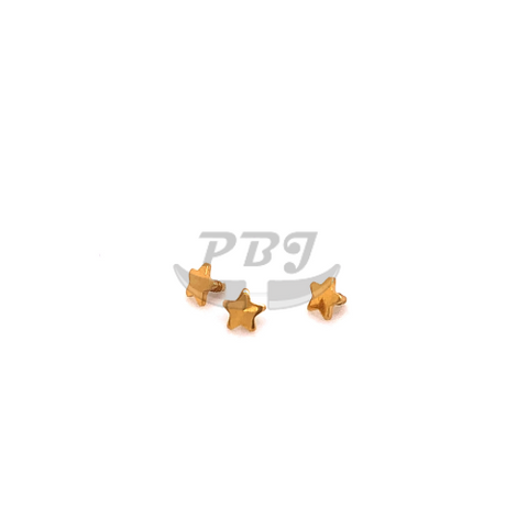 Gold Star Dermal Anchor Top-316L S. Steel