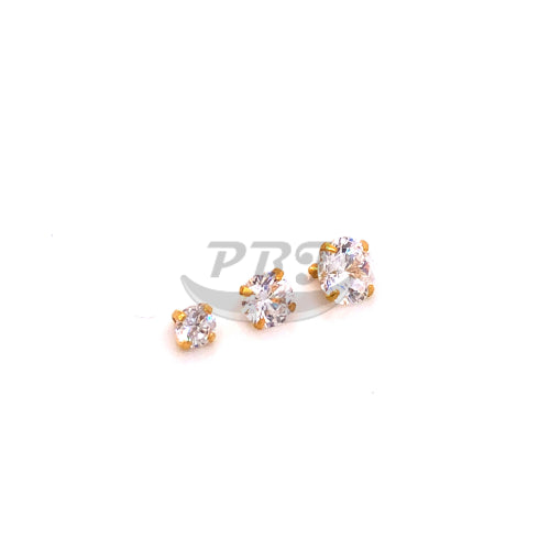 Gold CZ set Dermal Anchor Top-316L S. Steel