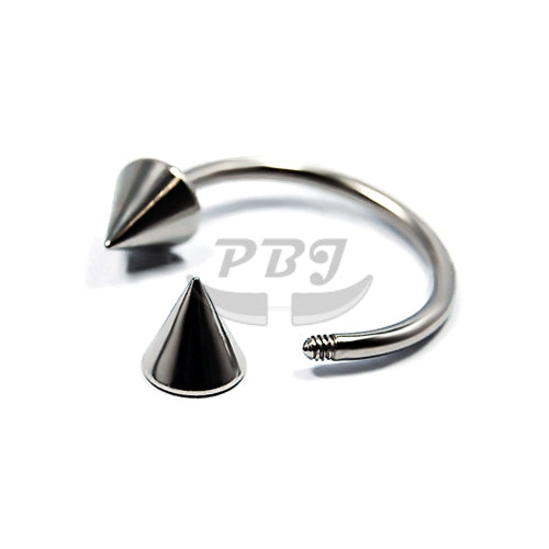 18G Small Cone CBB, 4pcs Price-316L S. Steel