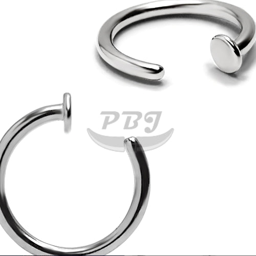 18G Hoop w/Stopper 6pcs/pack Price- 316L S. Steel