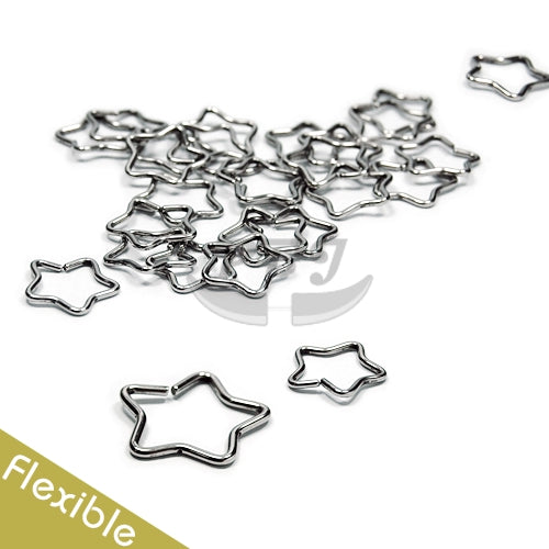 Star Flexible Hoop 18G, 4pcs/pack Price-316L S. Steel