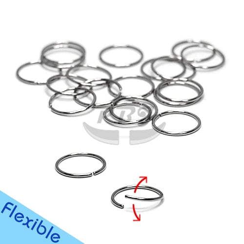 18G Flexible Hoop 6pcs/pack Price- 316L S. Steel